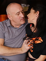 Mature lady getting frisky with her man