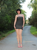 Pantyhose Diva dressed like a model | PantyhoseDiva.com