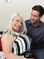 Big breasted British housewife fucking and sucking