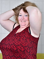 Big breasted British mature BBW getting naughty
